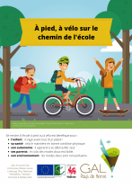 À pied, à vélo sur le chemin de l'école